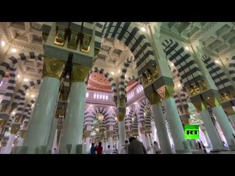 شاهد السعودية تفتح أبواب المسجد النبوي أمام المصلين بعد إغلاق استمر 74 يومًا