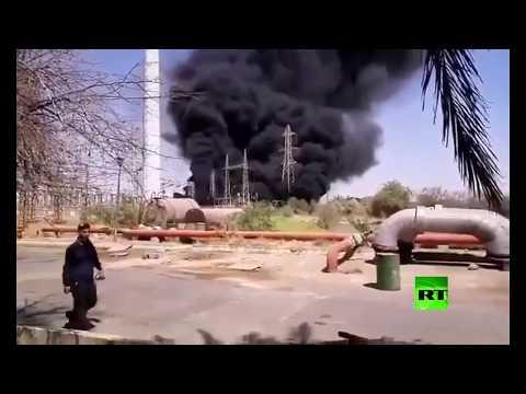 شاهدحريق في محطة مدحج زرغان للغاز جنوب غرب إيران