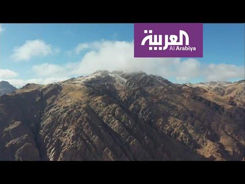 شاهدجبل اللوز عنوان عشاق الثلوج في السعودية