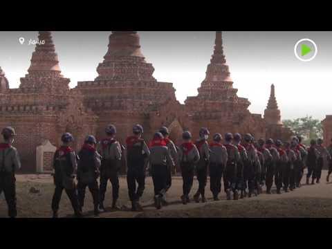 شاهد حماية كنوز معبد ميانمار من النهب