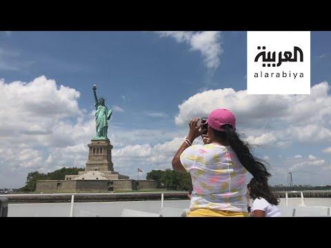شاهد تمثال الحرية الشهير يستقبل زواره من جديد