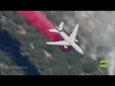 شاهد حرائق الغابات في كاليفورنيا تقترب من لوس أنجلوس