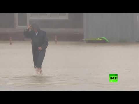 شاهد لقطات جديدة تُظهر آثار الإعصار في مدينة كورية جنوبية