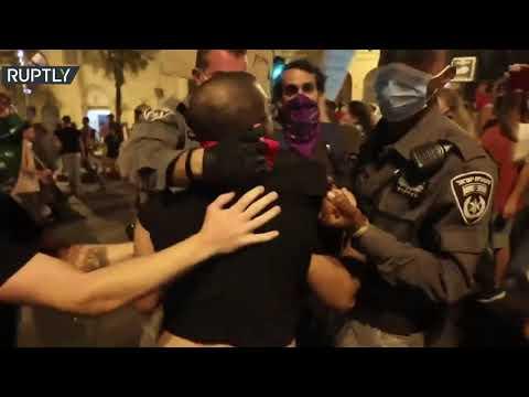شاهد تظاهرة ضد نتنياهو في القدس هي الأولى بعد إعادة فرض الإغلاق التام