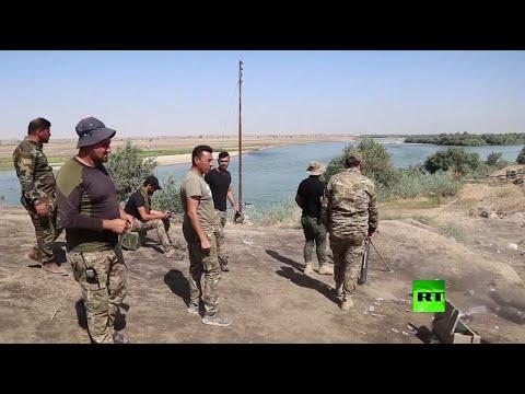 شاهد عملية لـالحشد الشعبي العراقي ضد عناصر داعش في الموصل