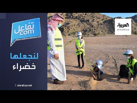 شاهد لنجعلها خضراء  حملة سعودية لزراعة ١٠ ملايين شجرة