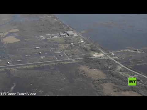 شاهد لقطات جوية لآثار إعصار دلتا ضرب ولاية لويزيانا الأمريكية
