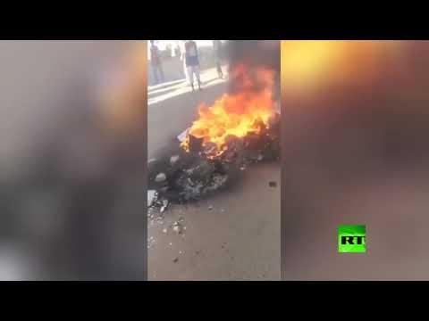 شاهد العشرات من المتظاهرين يحرقون علم إسرائيل في السودان