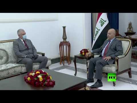 شاهد الرئيس العراقي والسفير الروسي يبحثان تخفيف التوتر في المنطقة