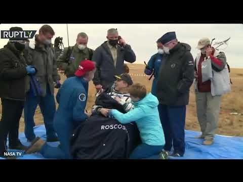 شاهد هبوط مركبة الفضاء الروسية سويوز إم إس 16 على الأرض