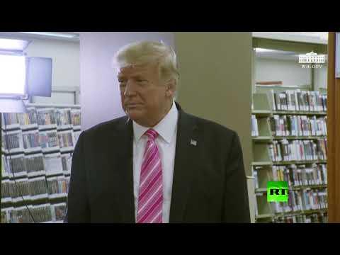 شاهد ترامب يردّ على سؤال لمن أعطى صوته في الانتخابات