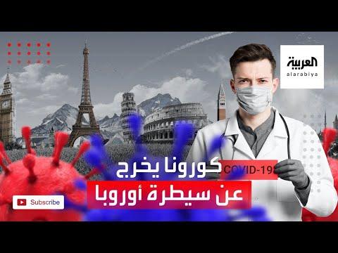 شاهد الوضع الوبائي في أوروبا بسبب فيروس كورونا يخرج عن السيطرة