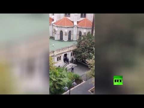 شاهد لحظة الاقتحام وإطلاق النار على مُنفذ هجوم نيس الفرنسية