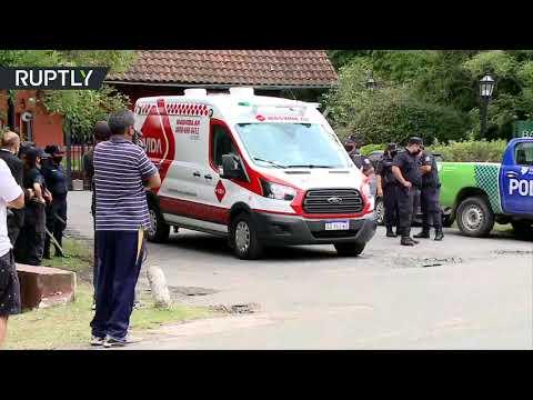شاهد: الشرطة ووسائل الإعلام الأرجنتينية في مقر إقامة الأسطورة مارادونا