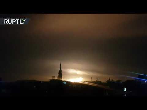 شاهد لقطات جديدة للهجوم الإسرائيلي على ريف دمشق السوري