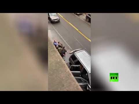 شاهد لقطات تُظهر لحظة القبض على مرتكب حادث الدهس في