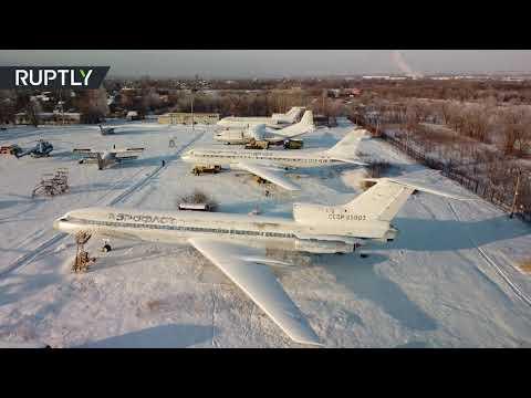 شاهد تصوير جوي يظهر مقبرة طائرات ومروحيات في سمارا الروسية