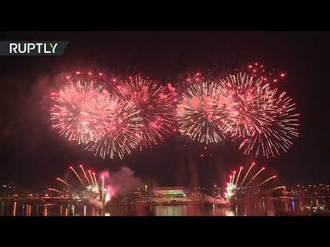 شاهد ألعاب نارية مبهرة تتوج الاحتفالات لمناسبة العيد الوطني في دبي