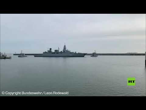 شاهد فرقاطة هامبورغ الألمانية تعود من مهمة مراقبة حظر الأسلحة على ليبيا