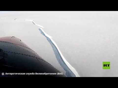 شاهد قطعة جليدية تنفصل عن القارة القطبية الجنوبية