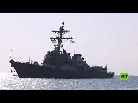 شاهد مدمرة أميركية تصل إلى ميناء بورتسودان