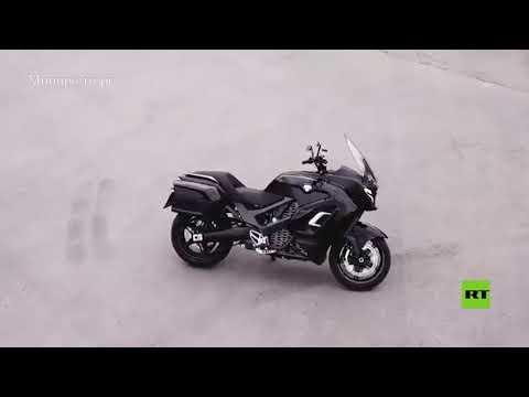 شاهد روسيا تعرض دراجة آوروس الكهربائية الفارهة