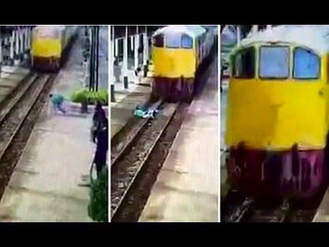 صوت الإمارات - بالفيديو قطار يدهس شابًا تايلانديًا إلا أنّ معجزة جعلته يمشي