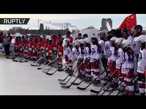 صوت الإمارات - شاهد مباراة هوكي على جليد نهر آمور