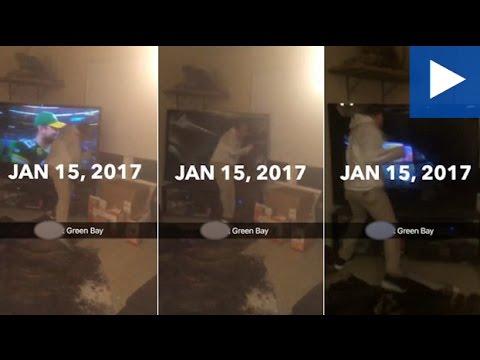 صوت الإمارات - بالفيديو  رجل يحطم تليفزيونه بسبب خسارة فريقه