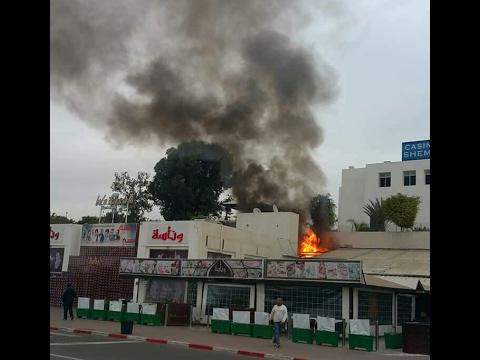 صوت الإمارات - بالفيديو  النيران تلتهم أشهر ملهى ليلي في أغادير