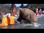 صوت الإمارات - شاهد الصيد وسط الجليد يجذب آلاف السياح فى كوريا الجنوبية